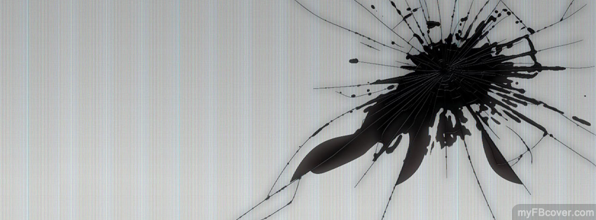 new concept 5d555 65a71 Cracked Screen Facebook Cover   Timeline Cover   FB Cover