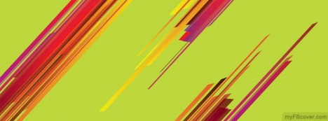 Abstract Colorful Lines Facebook Cover