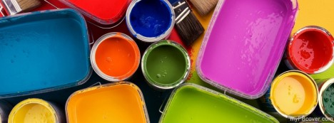 Colourful Oil Paint Facebook Cover