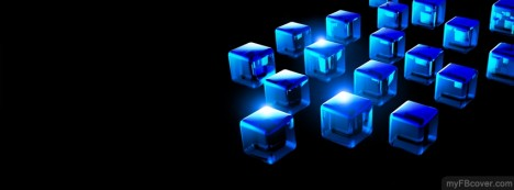 Cubes Blue Facebook Cover