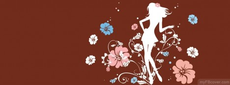 Flower Girl Brown Facebook Cover