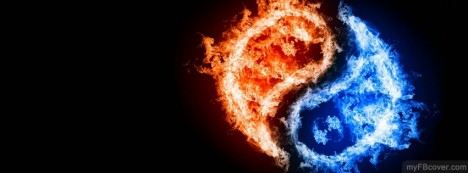 Red And Blue Fire Facebook Cover