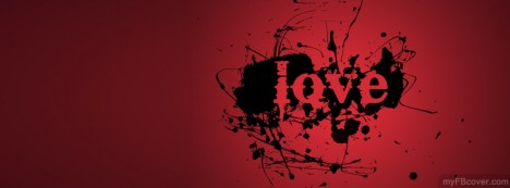 Red Love Facebook Cover