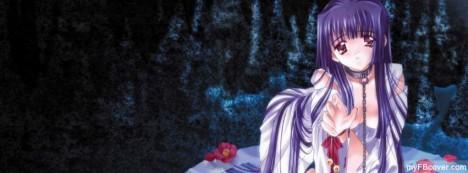 Anime Girl Facebook Cover