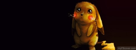 Emo Pikachu Facebook Cover