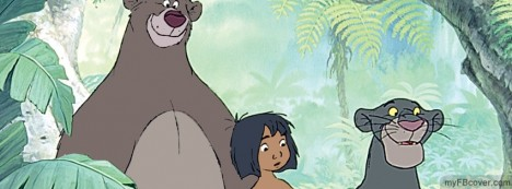 Mowgli and Bagheera Facebook Cover
