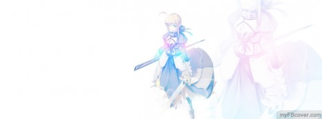 Warrior Girl Anime Facebook Cover
