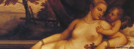 Venus and Cupid Facebook Cover