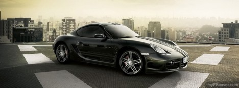 Black Porsche Facebook Cover