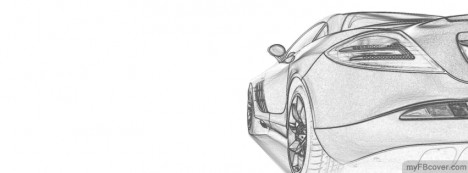 Mercedes Benz SLR Facebook Cover
