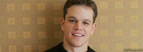 Matt Damon Facebook Cover