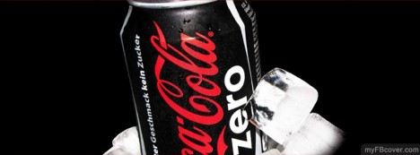 Cocacola Black Zero can Facebook Cover