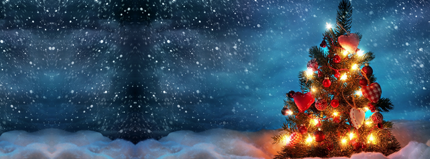beautiful christmas tree 2 facebook cover timeline cover fb cover - Christmas Tree Cover