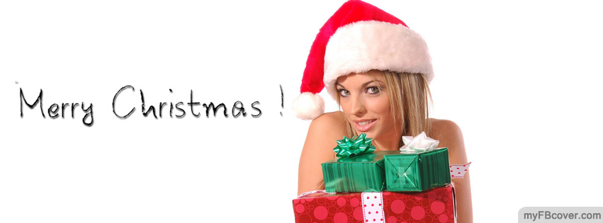 Christmas Girl Facebook Cover