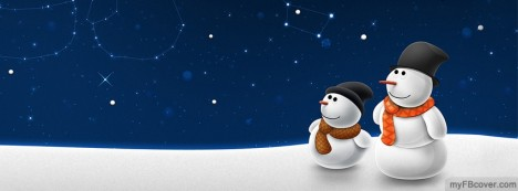 Christmas Snowman Facebook Cover