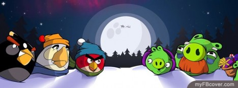 Christmas angry birds Facebook Cover