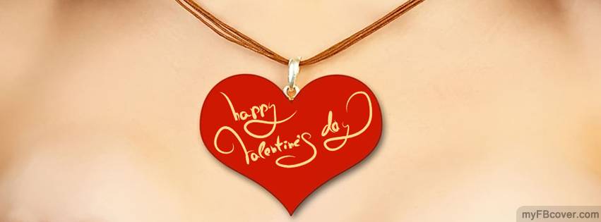 Valentines Day Necklace Facebook Cover