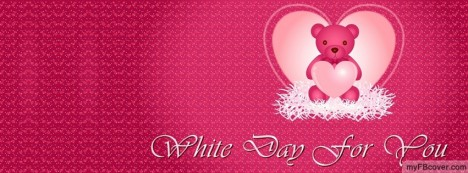 White Day for You Facebook Cover