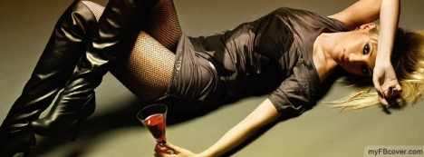 Wine and Woman Facebook Cover