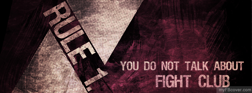 Fight club facebook cover timeline cover fb cover