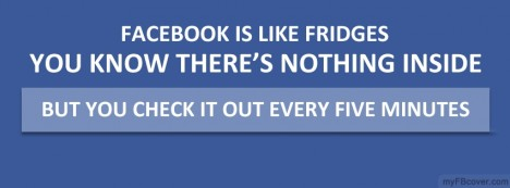 Facebook is like fridge Facebook Cover