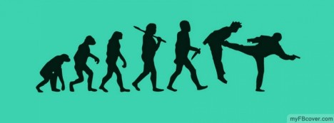 Funny Evolution Facebook Cover