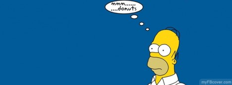 Homer Simpson Thinking Facebook Cover