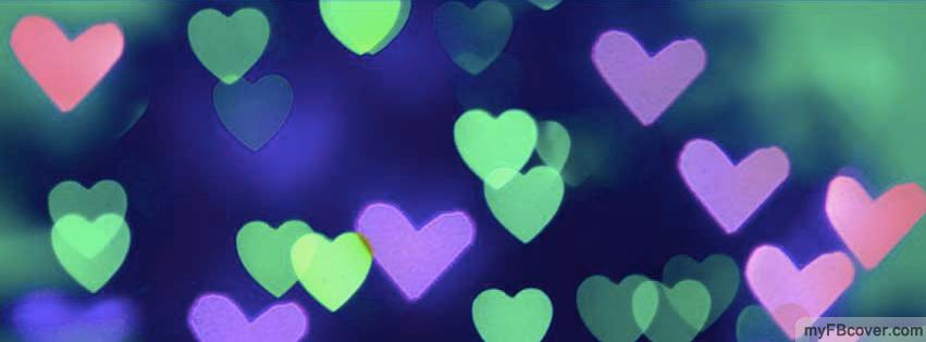 bokeh hearts facebook cover