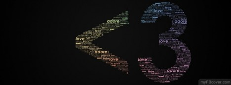 Heart Typography Facebook Cover