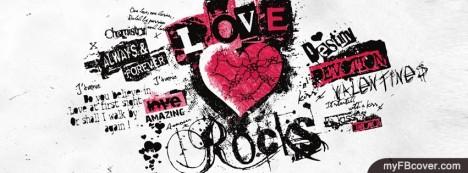 Love Rocks Facebook Cover