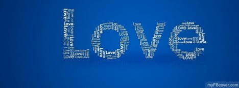 Love Typography Facebook Cover