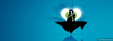 Lovers Silhoutte Facebook Cover