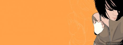 Orangy Girl Facebook Cover