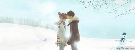 Snow Kiss Facebook Cover