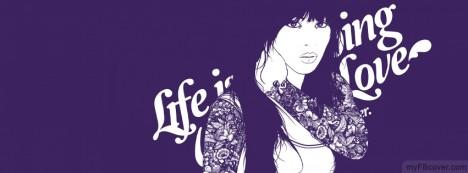 Tattooed Girl Facebook Cover