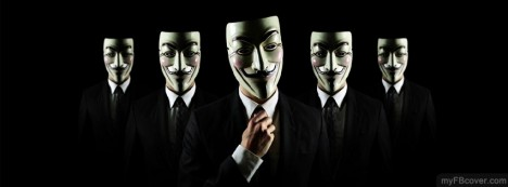 Anonymous Masks Facebook Cover