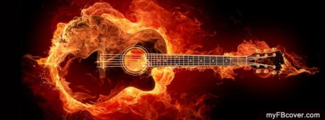 Burning Guitar Facebook Cover