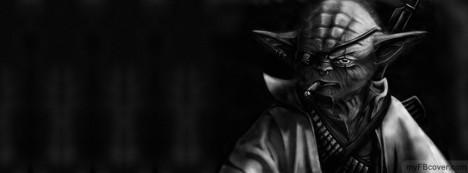 Bad Ass Yoda Facebook Cover