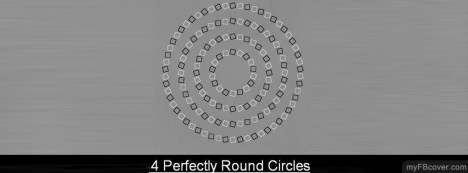 Circle Illusion Facebook Cover