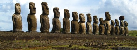 Easter Island Statues Facebook Cover
