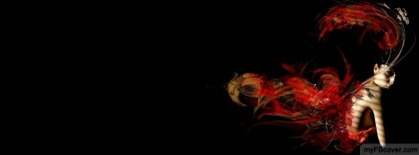 Fire Heart Facebook Cover