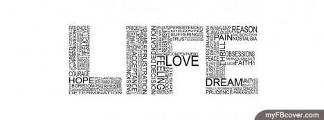 Life Wordart Facebook Cover