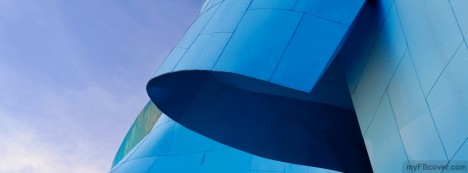 Blue Curves Facebook Cover