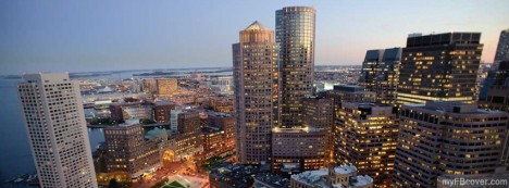 Boston Skyline Facebook Cover