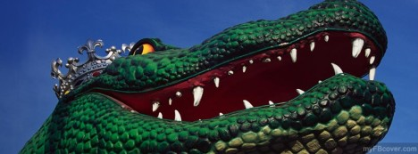 Dragon Statue Facebook Cover