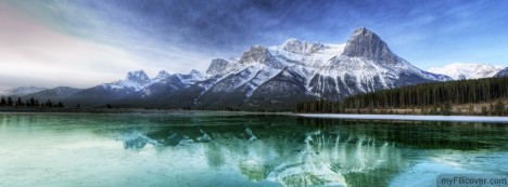 Mountain With Lake Facebook Cover