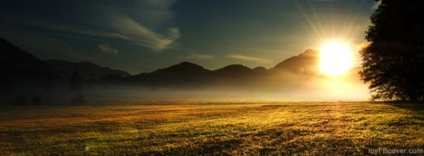 Sunrise Over Meadow Facebook Cover