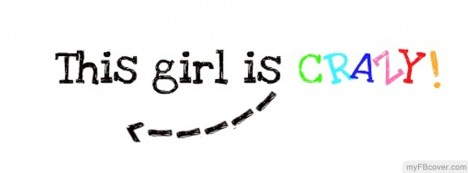 Crazy Girl Facebook Cover