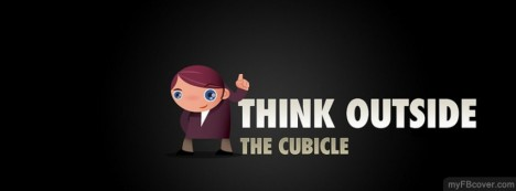 Think outside cubicle Facebook Cover