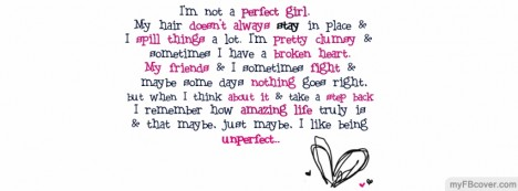 Unperfect Girl Facebook Cover